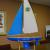 A custom made V-32 sailboat that we presented to the Town of Avon in conjunction with Sebree Architects of Avon.  It resides in their Town Council chambers now!