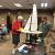 We often bring our new sailboats or under construction projects to club meetings.